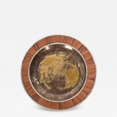 Los Castillo Los Castillo Decorative Plate Bronze Silver Plate Dish Mexico 1970s - 1412272