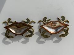 Los Castillo Mexican Brass and Abalone Crab Family Serving Dish - 1772002