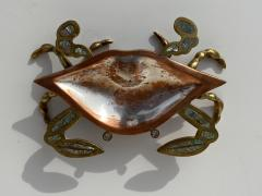 Los Castillo Mexican Brass and Abalone Crab Family Serving Dish - 1772008