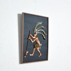 Los Castillo Mid Century Mexican Modernist Los Castillo Mayan Wood Art Panel Small - 1192200
