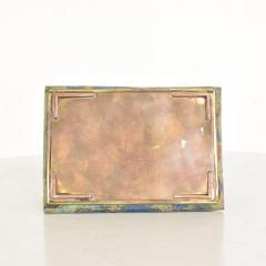 Los Castillo Mid Century Mexican Modernist Malachite Brass Small Trinket Box - 884488