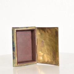 Los Castillo Mid Century Mexican Modernist Malachite Brass Small Trinket Box - 884494