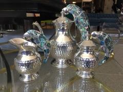 Los Castillo Tea Service Set in Silver and Abalone by Los Castillo - 340304