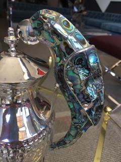 Los Castillo Tea Service Set in Silver and Abalone by Los Castillo - 340308