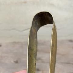 Los Castillo Vintage BRASS Barware Ice Tongs Silver Plated MEXICO Modern 1950s - 2053337