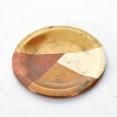 Los Castillo Vintage Married Metals Round Decorative Plate BRASSY Dish by LOS CASTILLO - 1498438