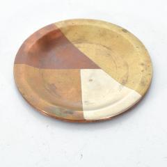 Los Castillo Vintage Married Metals Round Decorative Plate BRASSY Dish by LOS CASTILLO - 1498439
