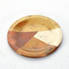 Los Castillo Vintage Married Metals Round Decorative Plate BRASSY Dish by LOS CASTILLO - 1498440