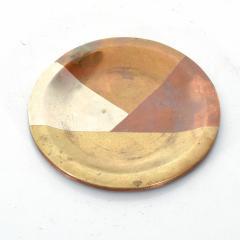 Los Castillo Vintage Married Metals Round Decorative Plate BRASSY Dish by LOS CASTILLO - 1498441