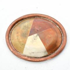 Los Castillo Vintage Married Metals Round Decorative Plate BRASSY Dish by LOS CASTILLO - 1498443