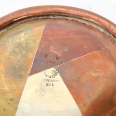 Los Castillo Vintage Married Metals Round Decorative Plate BRASSY Dish by LOS CASTILLO - 1498444