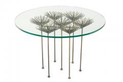 Lost City Arts Brutalist Bronze Gilt Floral Table by Lost City Arts - 1956123