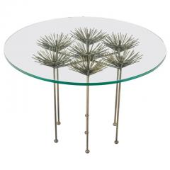 Lost City Arts Brutalist Bronze Gilt Floral Table by Lost City Arts - 1956124