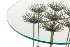 Lost City Arts Brutalist Bronze Gilt Floral Table by Lost City Arts - 1956126