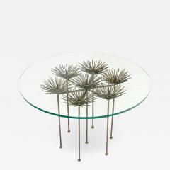 Lost City Arts Brutalist Bronze Gilt Floral Table by Lost City Arts - 1959953