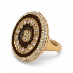 Luca Carati Luca Carati Diamond and Enamel Ring - 55013