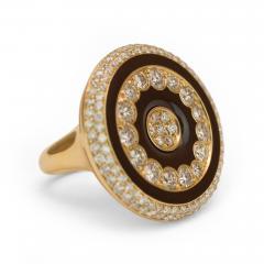 Luca Carati Luca Carati Diamond and Enamel Ring - 55015