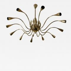Lumi 12 Arms Ceiling Light in brass - 1393356
