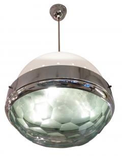Lumi Large Faceted Lens Pendant Attributed to Lumi Italy 1960s - 279088