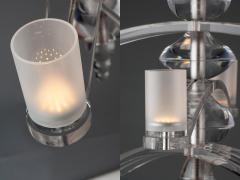 Lutyens Acrylic 5 Arm Pendant - 1817904