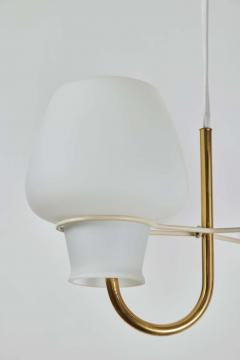 Lyfa 1950s Glass and Brass Suspension Lamp by Bent Karlby for Lyfa - 1919058
