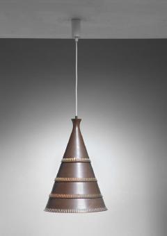 Lyfa Knud Hjerting model p208 copper pendant for Lyfa Denmark 1960s - 754839