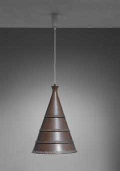 Lyfa Knud Hjerting model p208 copper pendant for Lyfa Denmark 1960s - 754840