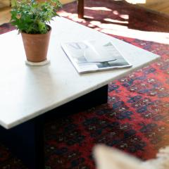 MAWLANA Furniture Home Fallada Bauhaus Stye Marble Coffee Table - 1394716