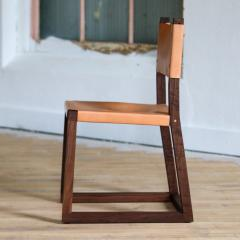 MAWLANA Furniture Home Hypatia Leather And Walnut Side Chair - 1395097