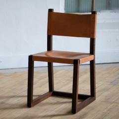 MAWLANA Furniture Home Hypatia Leather And Walnut Side Chair - 1395098