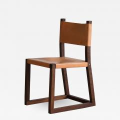 MAWLANA Furniture Home Hypatia Leather And Walnut Side Chair - 1395394