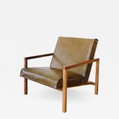 MAWLANA Furniture Home Vincent Leather Lounge Chair - 1395397