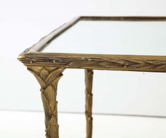 Maison Bagu s Bronze Bagu s Style Cocktail Table with a Mirrored Top - 1842663