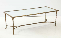 Maison Bagu s Bronze Bagu s Style Cocktail Table with a Mirrored Top - 1842665