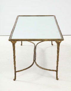 Maison Bagu s Bronze Bagu s Style Cocktail Table with a Mirrored Top - 1842672