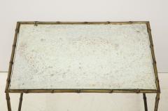 Maison Bagu s Faux bamboo patinated bronze nesting tables by Maison Bagu s France 1960s - 1796596