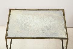 Maison Bagu s Faux bamboo patinated bronze nesting tables by Maison Bagu s France 1960s - 1796598