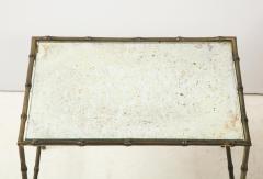 Maison Bagu s Faux bamboo patinated bronze nesting tables by Maison Bagu s France 1960s - 1796600