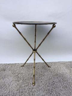 Maison Bagu s Maison Bagu s Bronze Smoked Grey Gilt Vien Mirror Top Table Hollywood Regency - 1781508