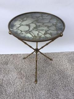 Maison Bagu s Maison Bagu s Bronze Smoked Grey Gilt Vien Mirror Top Table Hollywood Regency - 1781509