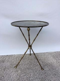 Maison Bagu s Maison Bagu s Bronze Smoked Grey Gilt Vien Mirror Top Table Hollywood Regency - 1781515