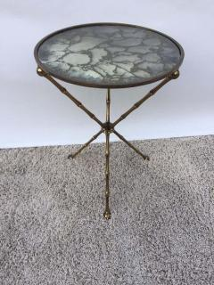 Maison Bagu s Maison Bagu s Bronze Smoked Grey Gilt Vien Mirror Top Table Hollywood Regency - 1781520