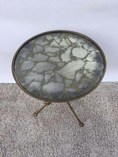 Maison Bagu s Maison Bagu s Bronze Smoked Grey Gilt Vien Mirror Top Table Hollywood Regency - 1781522