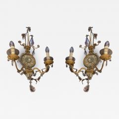 Maison Bagu s Maison Bagues early rarest pair of gold leaf wrought iron sconces - 1817621