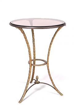 Maison Bagu s Maison Bagues gold bronze side table with a beautiful chiselling work - 1459929