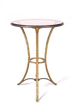 Maison Bagu s Maison Bagues gold bronze side table with a beautiful chiselling work - 1459973