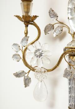 Maison Bagu s Pair of Large Vintage Maison Bagu s Rock Crystal Bird Form Sconces - 1779410