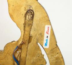 Maison Bagu s Pair of Vintage Maison Bagu s Rock Crystal Bird Form Sconces - 1779404