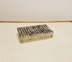 Maison Bagu s Petite Silver Plated Faux Bamboo Container in the style of Bagu s France 1960s - 1249956