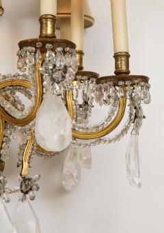 Maison Bagu s Rare Rock Crystal Chandelier - 1897560